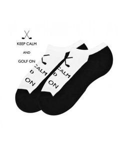 Keep Calm and Golf On! Who doesn't need these adorable socks in your life?! Snag them for a friend or for yourself now!  #golfgifts #ladiesgolfsocks #keepcalmgolfon #ladiesgolfapparel #golfaccessories #womensgolfapparel #golfboutique     https://www.ladiespro.com/ladies-golf-apparel/womens-golf-socks?product_id=20299