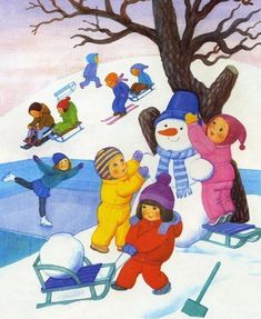tél Art Drawings For Kids, Drawing For Kids, Art For Kids, Four Seasons Art, Picture Comprehension, Number Flashcards, Picture Composition, Favorite Christmas Songs, Winter Activities For Kids