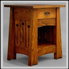 End Table or NightStand Arts and Crafts Mission by DRYADSTUDIOS