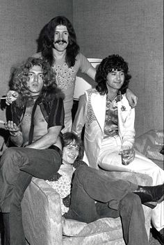 Led Zeppelin at the Continental Riot House Hotel, 1973…