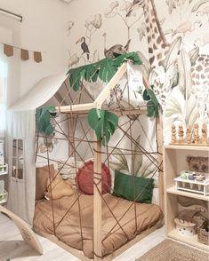 Boys Jungle Bedroom, Jungle Theme Rooms, Boys Space Bedroom, Kids Room, Girls Bedroom, Jungle Room, Childrens Bedroom, Safari Nursery, Nursery Decor