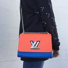 6f2424bb2874 Louis Vuitton Epi Colorblock Twist MM Shoulder Bag at tbcconsignment.com Louis  Vuitton
