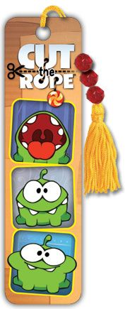 Cut The Rope - Om Nom - Collector's Beaded Bookmark