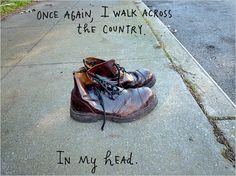Maira Kalman's worn, old-fashioned boots