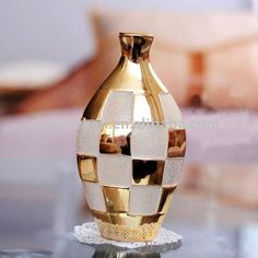 gilding sand blasted porcelain vase in home and hotel for decoration-in Vases from Home & Garden on Aliexpress.com