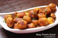 Small or Baby Potato Roast is a side dish that I often make at home to Rice with Sambar or Rasam. This roast is easy to make, yummy and crispy. This is my