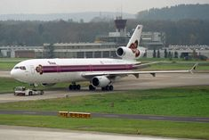 "Thai Airways International McDonnell Douglas HS-TMF ""Phichit"" ""The King`s 72 Celebration"" sticker Mcdonnell Douglas Md 11, Thai Airways, United Parcel Service, Switzerland, Celebration, Sticker, King, Stickers, Decal"
