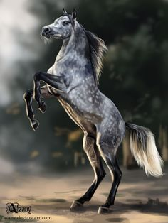 """For challenge """"10 horses for 10 days"""". 2-3 hours, Photoshop CS6 Drawn with a photo. Art (c) Azany"""