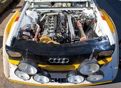 Audi Quattro engine. Just rebuilt one! Very ordinary and conservative.