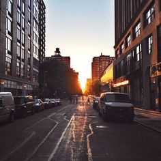 The sun sets on NYC