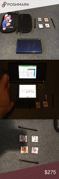 Nintendo DS lite It comes with four games and two stylus sticks good condition Nintendo Other