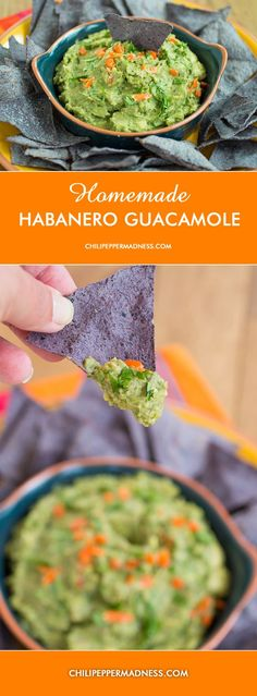 Homemade Habanero Guacamole from Chili Pepper Madness