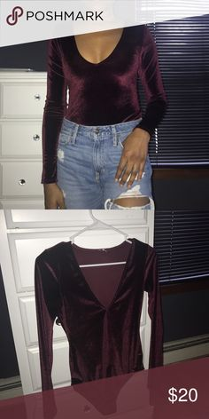 Velvet bodysuit. This bodysuit is beautiful but needs a new home 😊  worn only 3 times fits true to size Urban Outfitters Other