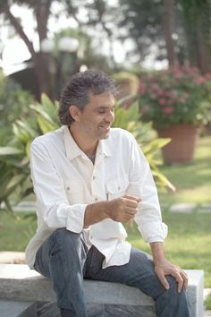 Andrea Bocelli - he may be blind but his voice brings me to tears!