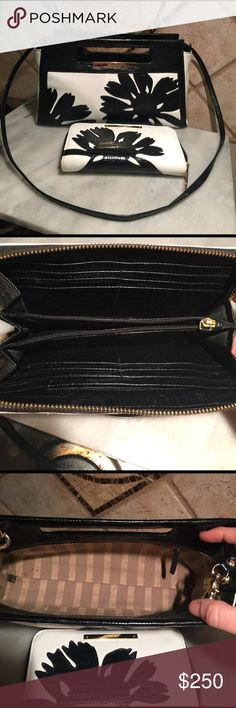 """Brahmin purse and wallet excellent condition Purse is 11""""x7""""x 3"""" with 22"""" detachable strap drop.  Wallet is 8""""x4"""".  Very minor wear on these two pieces. Next day shipping Brahmin Bags Crossbody Bags"""