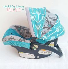 Cute Idea for Baby Boy Car Seat Cover...love! | Baby Cats ...