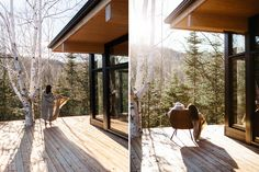 Our cabin rentals in Canada come in all shapes and sizes. Walk In The Woods, Cabins In The Woods, Cabin Rentals, Vacation Rentals, Neutral Color Scheme, Boutique Homes, Wooden Decks, New Property, Modular Design