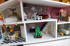 Lundby christmas dolls house makeover!