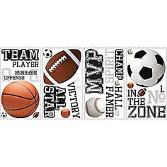 NEW RoomMates® All Star Sports Saying Peel and Stick Wall Decal, 10