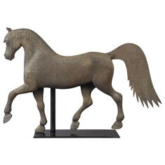 Horse Weathervane, 1870 | From a unique collection of antique and modern weathervanes at http://www.1stdibs.com/furniture/folk-art/weathervanes/
