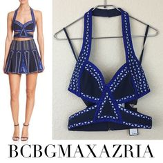 BCBGMAXAZRIA bra crop top BCBGMAXAZRIA bra crop top size small new with tags $228. NOT included in $19 clean out sale. Other offers are welcomed BCBGMaxAzria Tops Crop Tops