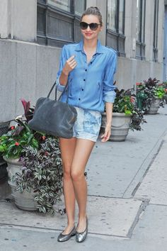 I love this casual denim look. Download the#FashEngage iPhone App in the iTunes App Store!