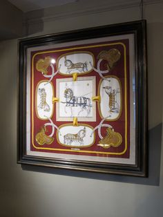 hermes scarf in frame from dc member brownrigg