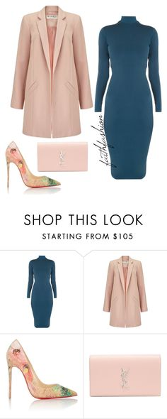 Untitled #293 by faithfashionash on Polyvore featuring Miss Selfridge, Christian Louboutin and Yves Saint Laurent