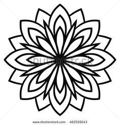 Ornamental round doodle flower isolated on white background. Simple Mandala, Geometric Mandala, Geometric Circle, Mandala Art Lesson, Mandala Drawing, Illustrator Design, Bild Tattoos, Flower Doodles, Doodle Flowers