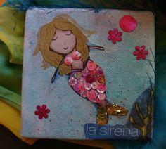 Mermaid la sirena mini art piece by catrinacreations on Etsy, $8.00