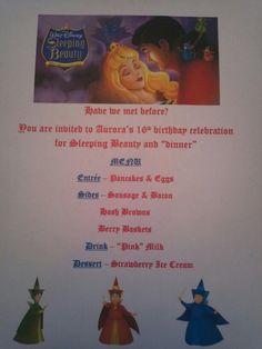 Disney Dinner Night - Sleeping Beauty
