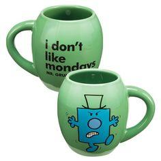 Mr Men Little Miss Mr. Grumpy 18 Oz Ceramic Oval Mug