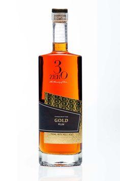 3ZERO Gold rum - packaging & branding