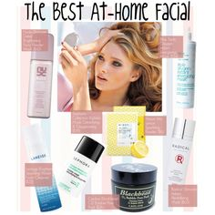 The Best At-Home Facial by kusja on Polyvore featuring Belleza, HARLEQUIN, Beauty, facial and beautyproducts
