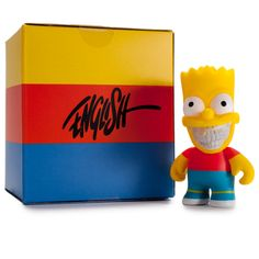 Kidrobot has joined forces with Ron English to release this brand new The Simpsons vinyl figure. Kidrobot is excited to bring together the classic Simpsons license with notable and talented artists to