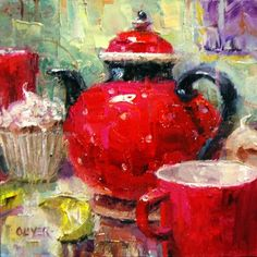 Tea for Two, painting by artist Julie Ford Oliver