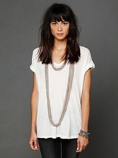 thick hair + bangs // Free People style