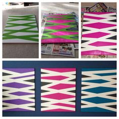 DIY canvas art using frog tape and acrylic paint Diy Canvas Art, Canvas Ideas, Diy Wall Art, Art Qoutes, Craft Gifts, Art Inspo, Art Drawings, Tape, Art Ideas
