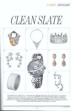 JCM London's Rococo earrings featured in Absolutely, September 2015 #cleanslate