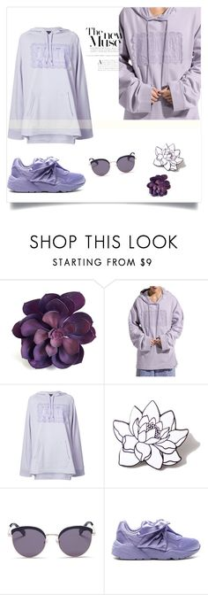 """Purple / purivinkle"" by montenegrinaa ❤ liked on Polyvore featuring Puma, PINTRILL and Stephane + Christian"