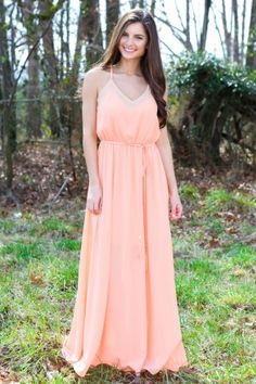 All That Remains Maxi Dress-Cantaloupe