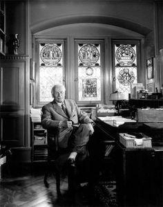 Carl Jung, 1958, in his library • Youuf Karsh Carl Jung, Sigmund Freud, Winston Churchill, Saturn Sign, Tarot, Yousuf Karsh, Dwight Eisenhower, Gustav Jung, Girls Who Squat