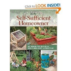 I want this book! DIY Projects for the Self-Sufficient Homeowner. Want to make the strawberry planter and the dehydrator!