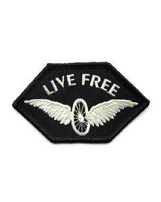 Live your life free, like a bicycle wheel with wings. Ride on into freedom.M. Carter patches draw inspiration from their own outré designarchives, utilizing the same 5th-generation family business to produce these retro patches fit for the 1970s.Embroidered patch design on twillMerrowed edge sti...