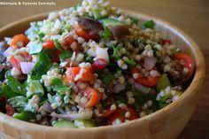 Νόστιμες κ Υγιεινές Συνταγές: Μεσογειακό ταμπουλέ με φαγόπυρο Grains, Salads, Healthy Living, Rice, Yummy Food, Cooking, Recipes, Kitchen, Healthy Life