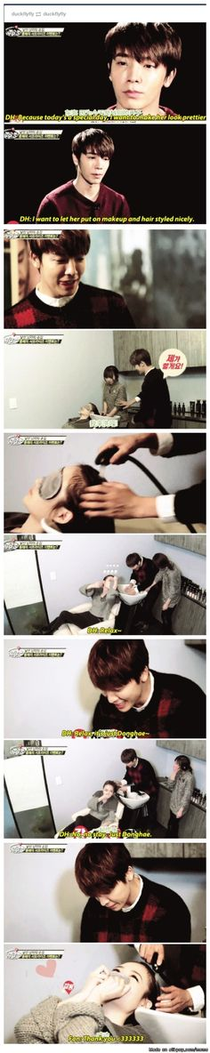 the dream of every fangirl: your idol washing your hair