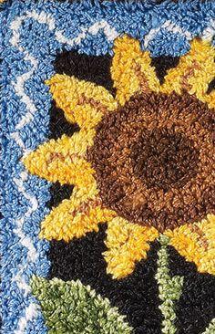 Summer Sunflower Punchneedle - tutorial with pattern! ... http://createanddecorate.wordpress.com/2012/05/14/summer-sunflower-punchneedle/#