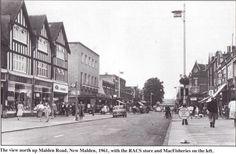 High Street, New Malden Kingston Upon Thames, British Seaside, Old Street, Historical Images, Vintage London, London Life, Local History, Back In Time, Old Postcards