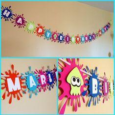10th Birthday Parties, Art Birthday, Birthday Party Decorations, Birthday Bash, Birthday Ideas, Paintball Birthday, Paintball Party, Nintendo Party, Art Party
