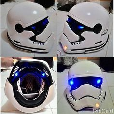 Star Wars Stormtrooper Motorcycle Helmet With LED DOT Approved M-XXL